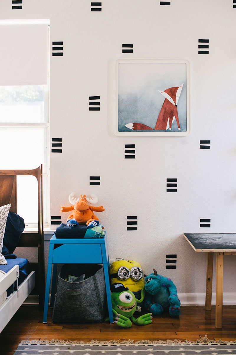 black wall decals kids room