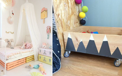 DIY WITH WOOD FOR THE KID'S ROOM