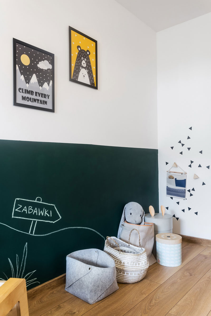 green chalkboard wall