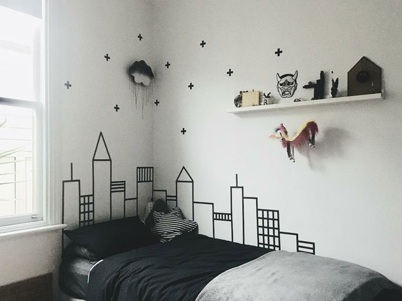 city themed kid's room