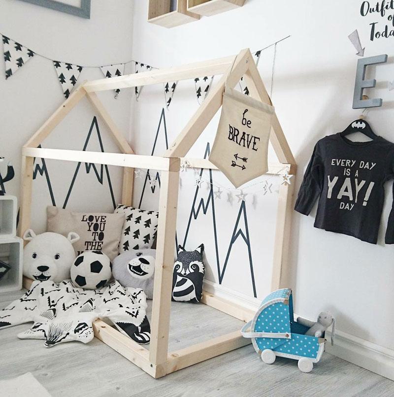 mountain wall decor washi tape