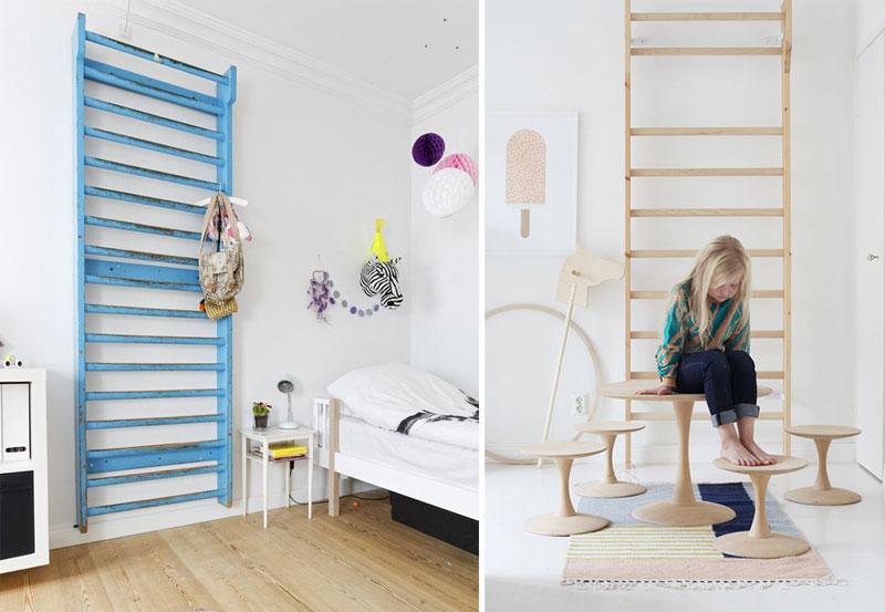 gynastic wall bars for kid's room