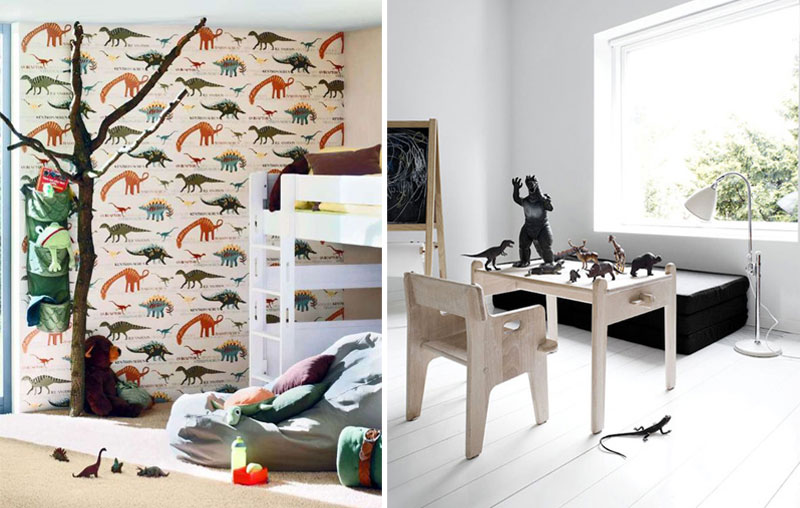 dinosaur themed kid's room