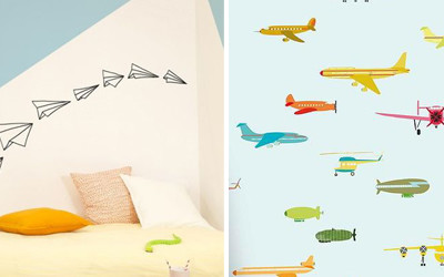 AEROPLANES IN CHILDRENS' ROOMS