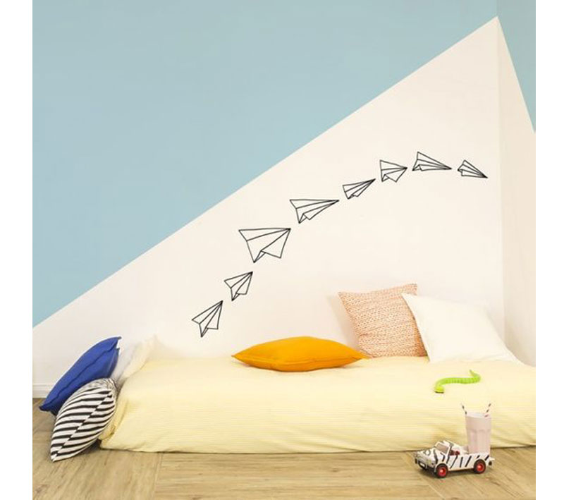 Chispum plane wall decals