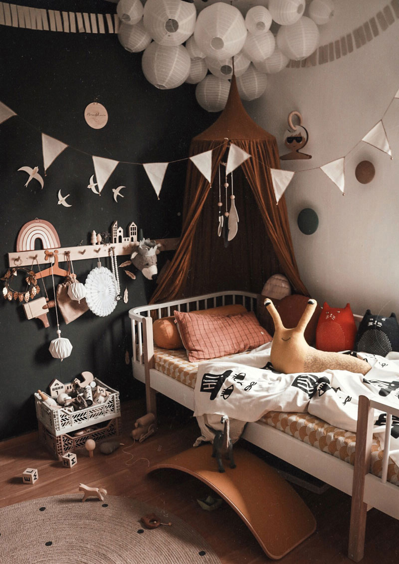 childrens rooms with black