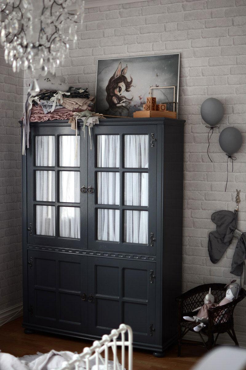 scandinavian vintage style cupboard