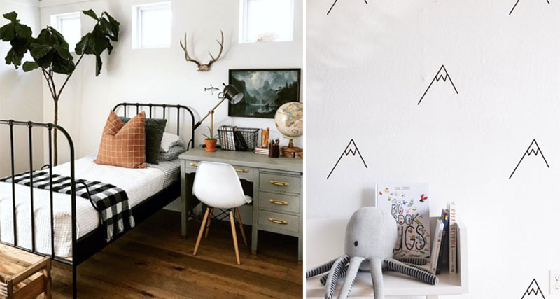 mountain design for childrens rooms