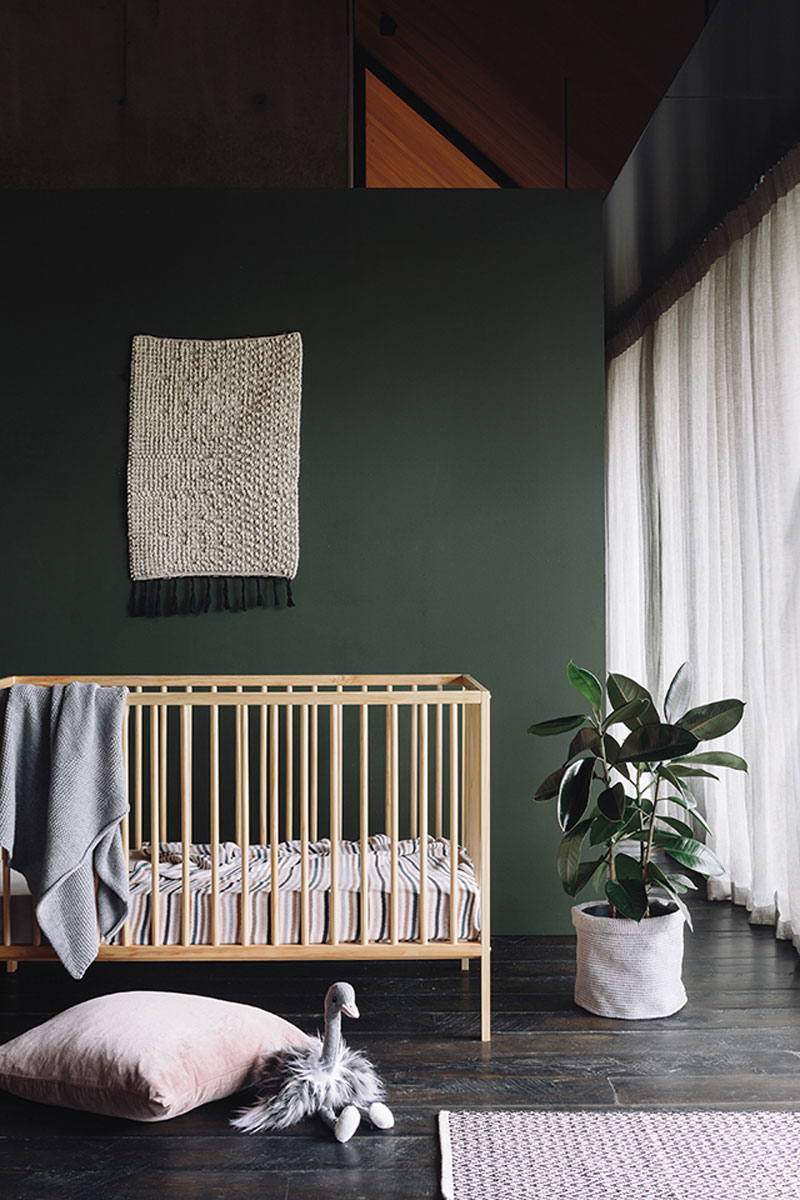 dark green paint for nursery room