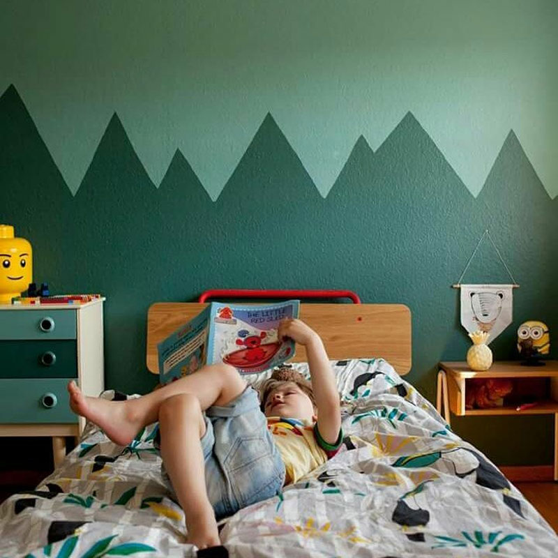 contemporary green paint for boy's room