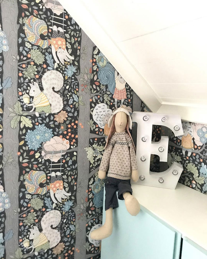 whimsical wallpaper for a boys room