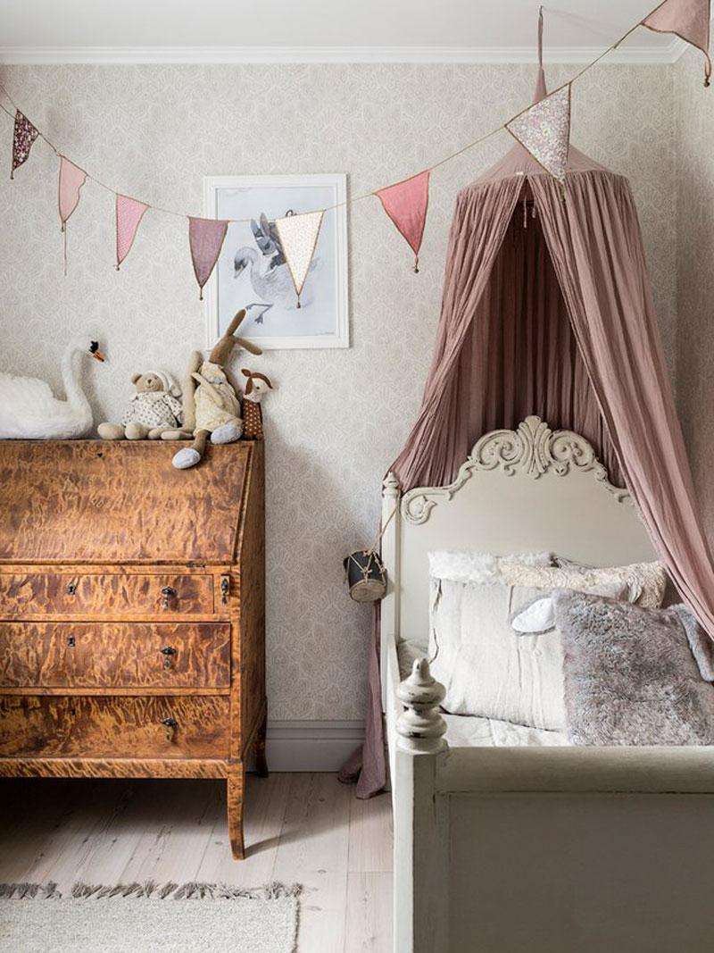 nursery with heirloom furniture