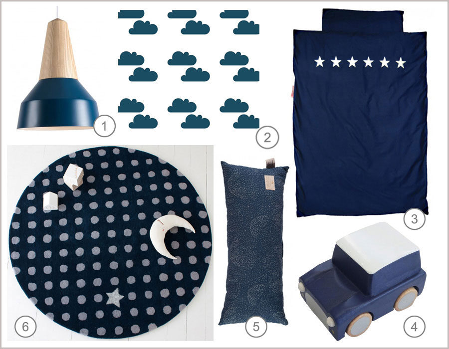 midnight blue kids decor