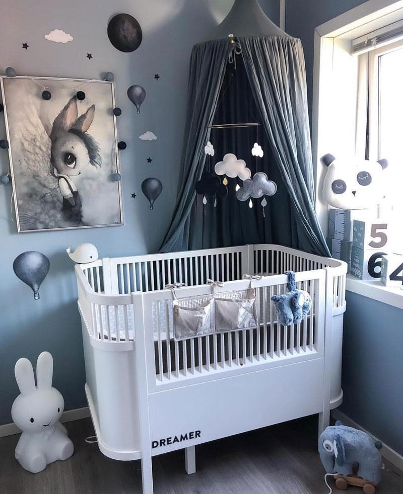 mystical Scandinavian nursery room