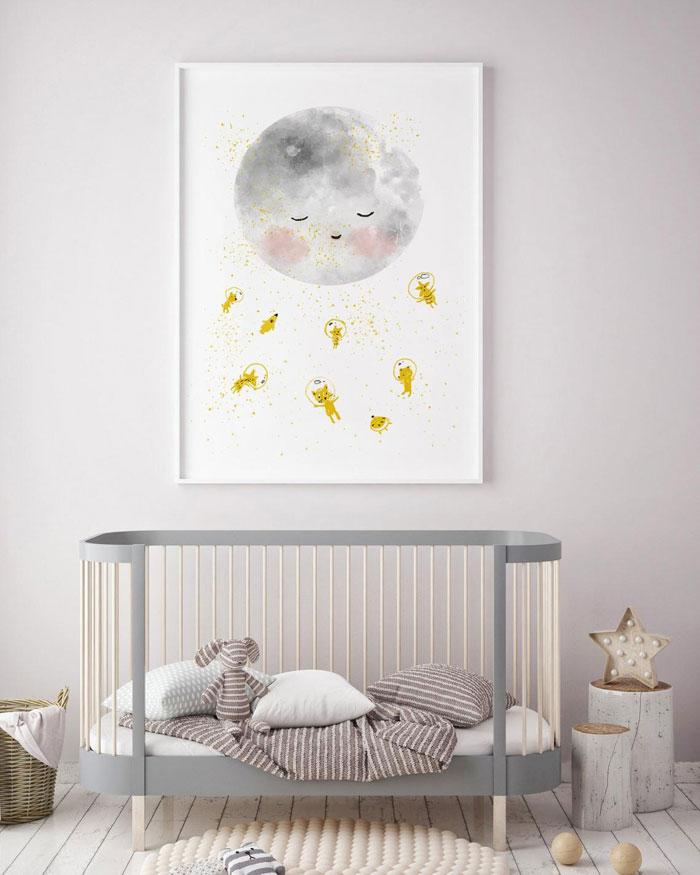 moon nursery poster