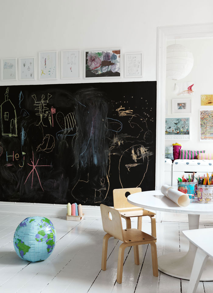 large chalkboard for playroom