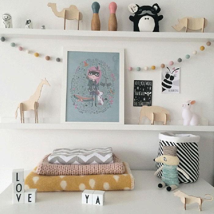 nursery shelvie ideas