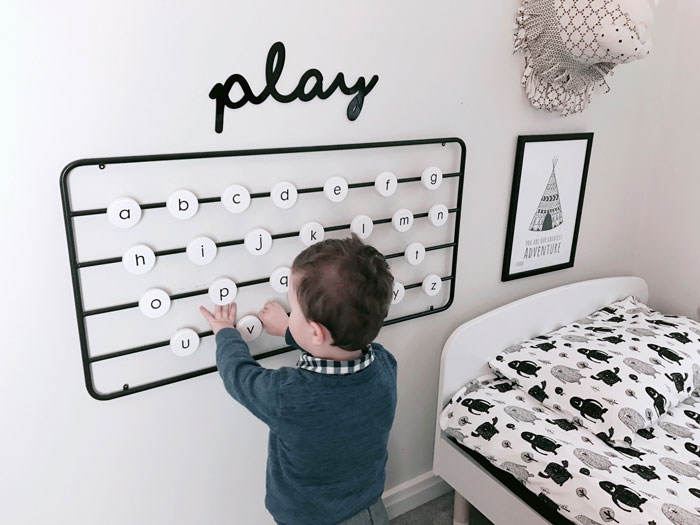 learning the alphabet decor