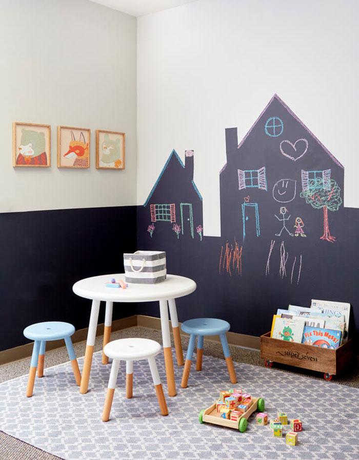 creative ideas chalkboard wall
