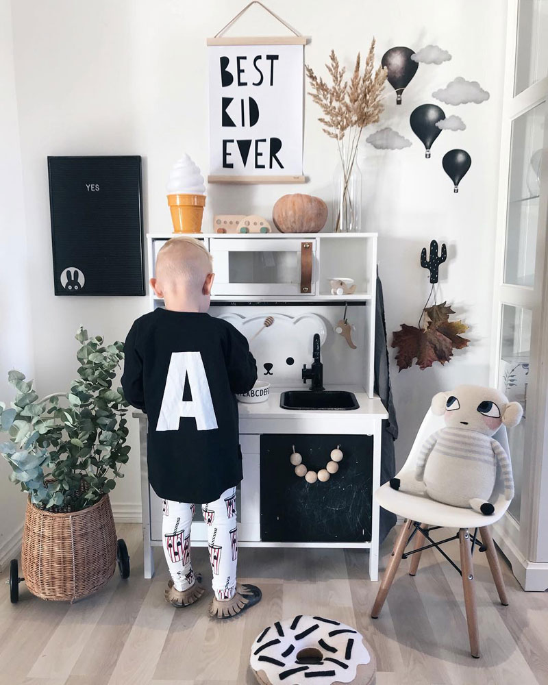 black ikea play kitchen