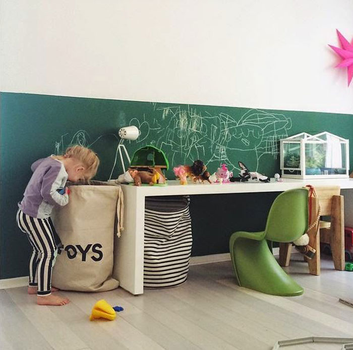 creative corner in kid's room