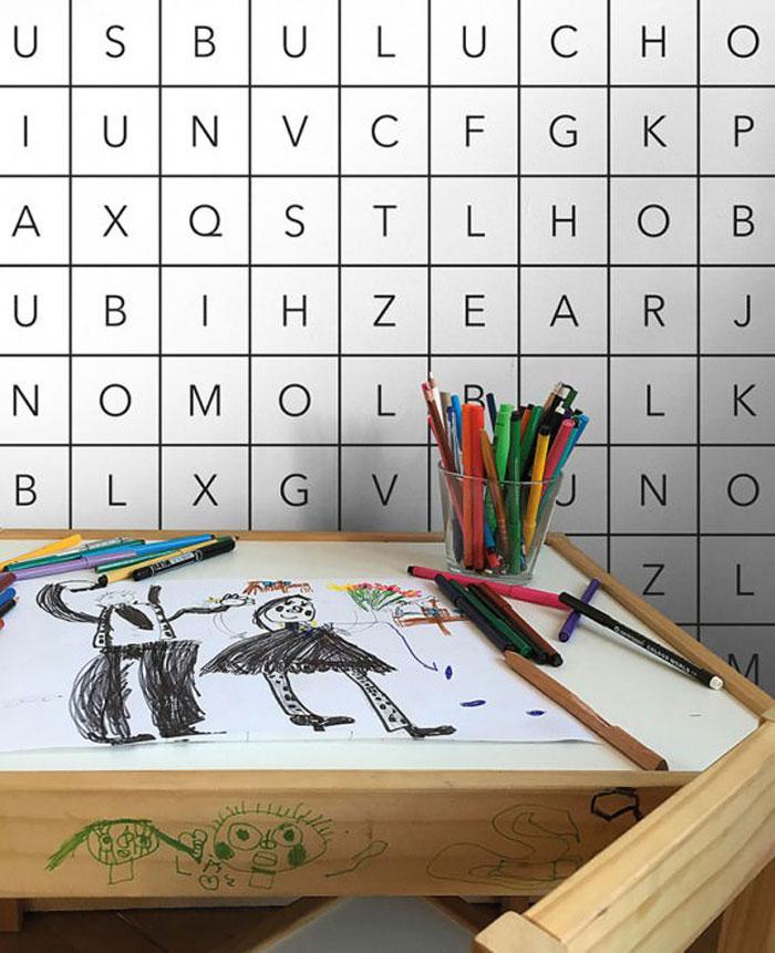 letter kids wallpaper