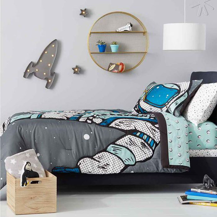 austronaut kids bedding