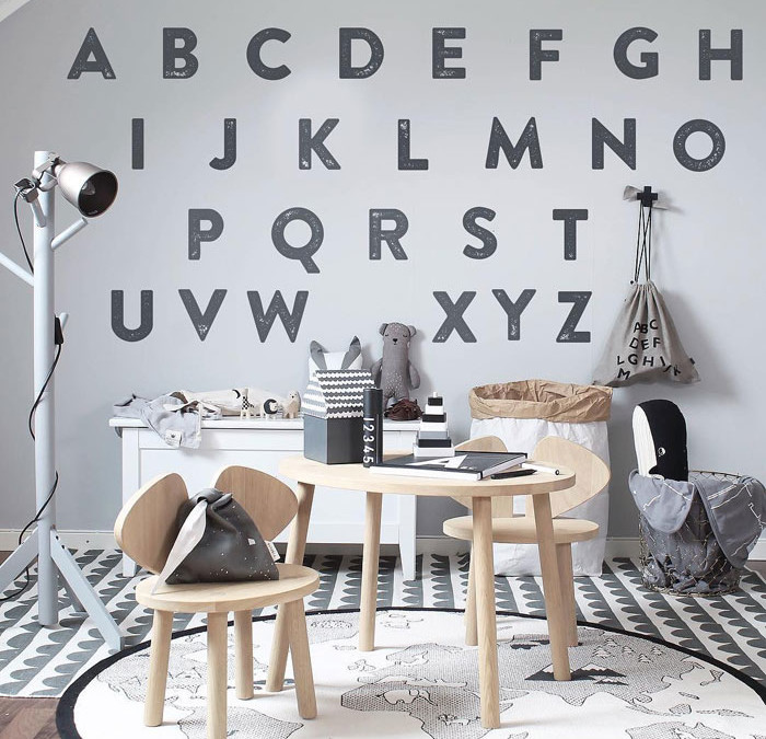 INTRODUCING ABC IN KIDS' ROOMS