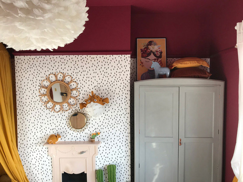 unusual colour schemes girls rooms