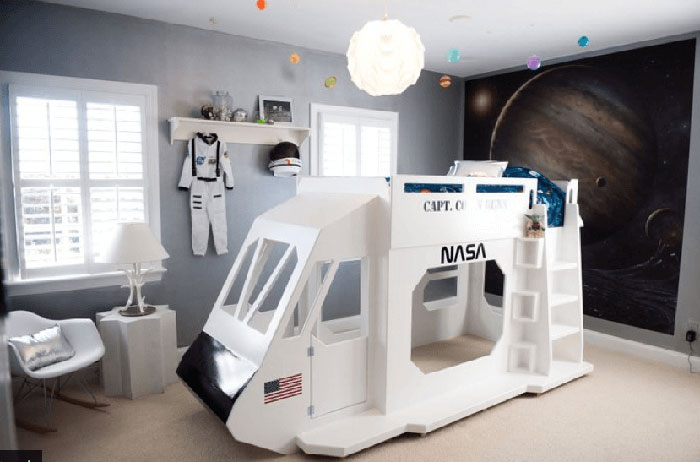 spaceship kids bed