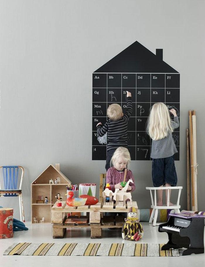 chalkboard calendar wall