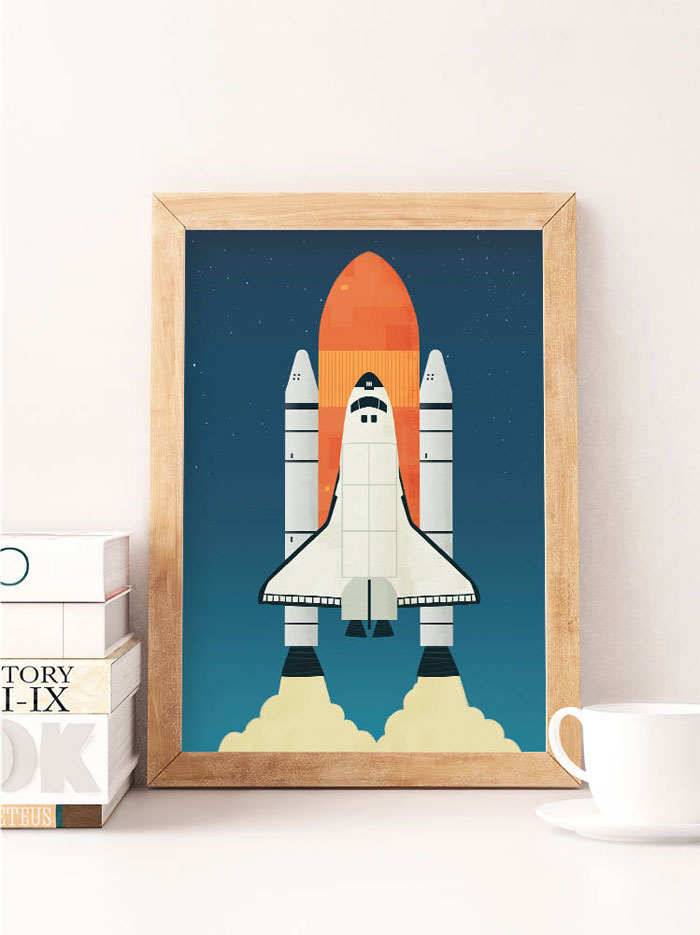 spaceship rocket poster