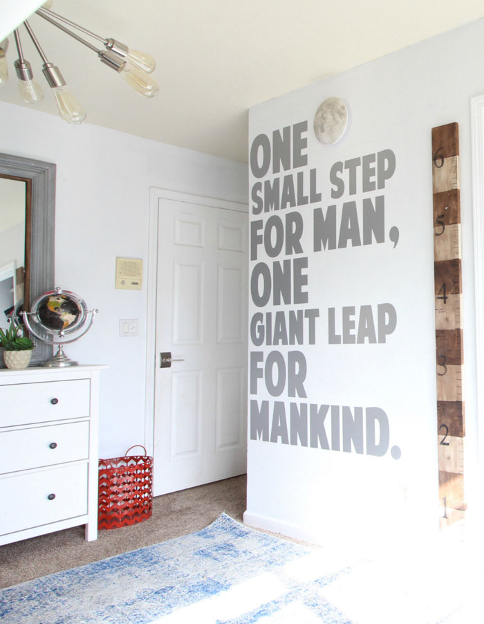 one small step for a man decor
