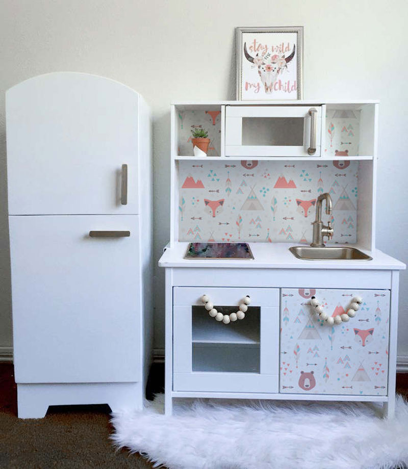 vintage style fridge for playkitchen