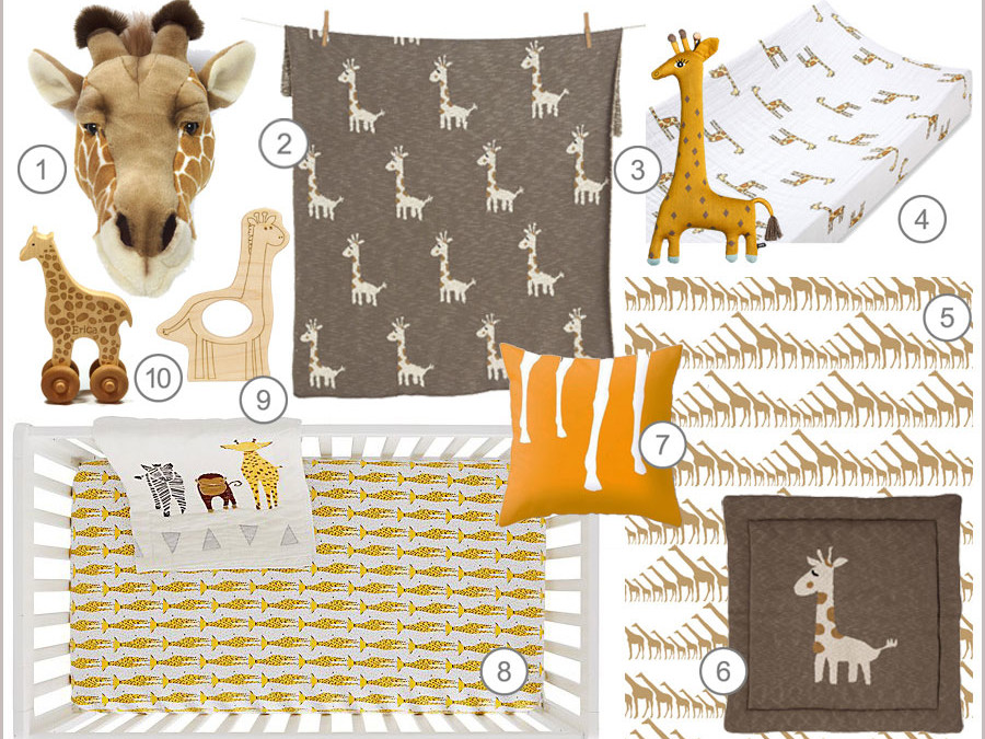 SHOPPING BY THEME : GIRAFFES IN THE NURSERY