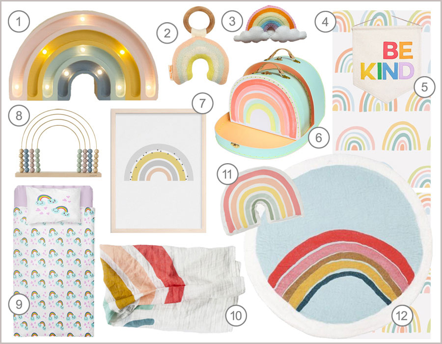 rainbows kids decor