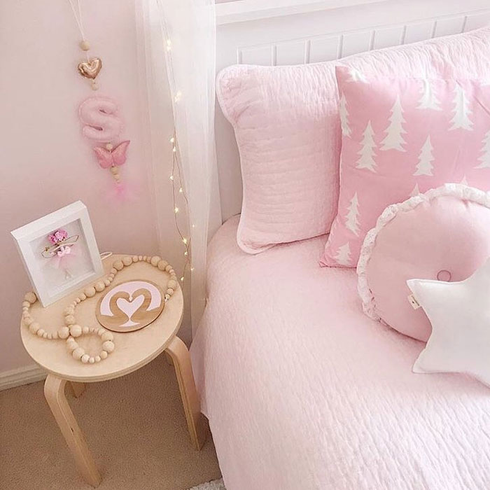 pink childrens bedding