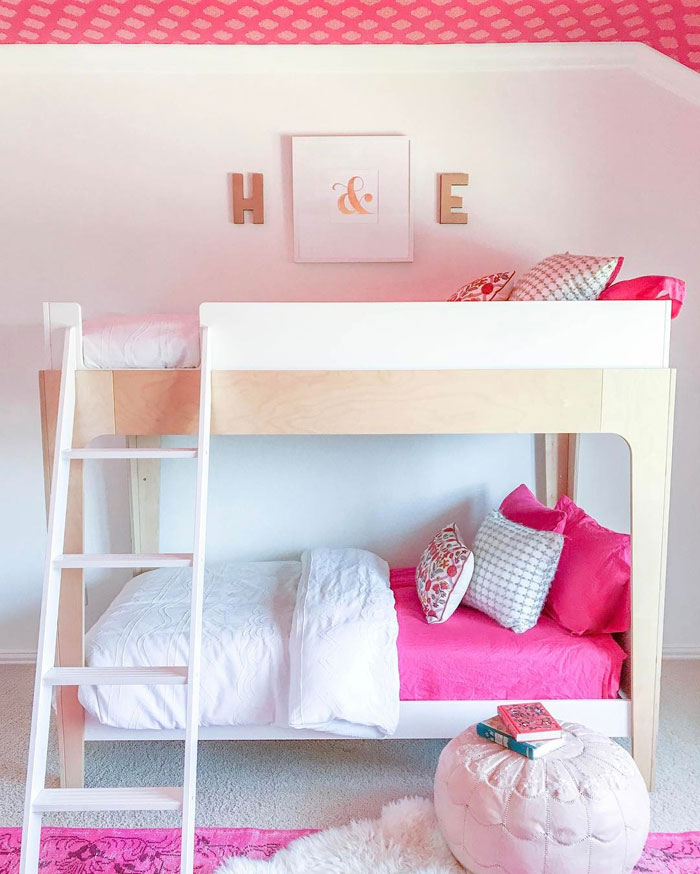 fuschia kids bedding