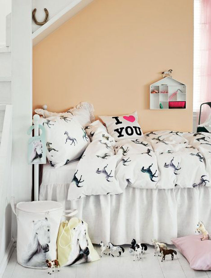 horse kids bedding