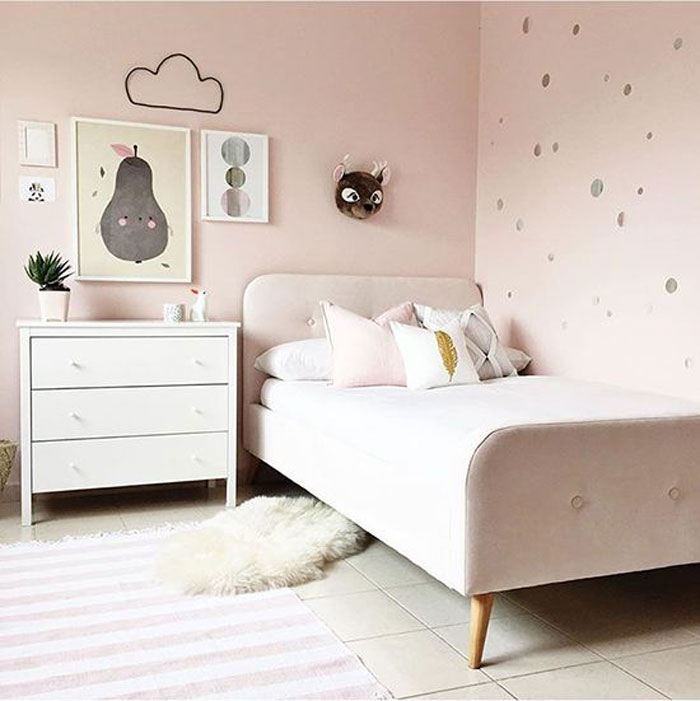 light pink paint for kids room