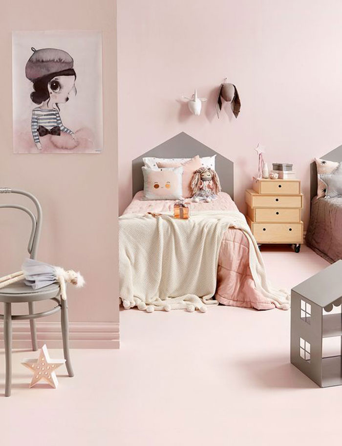 best pink paint for girl's room