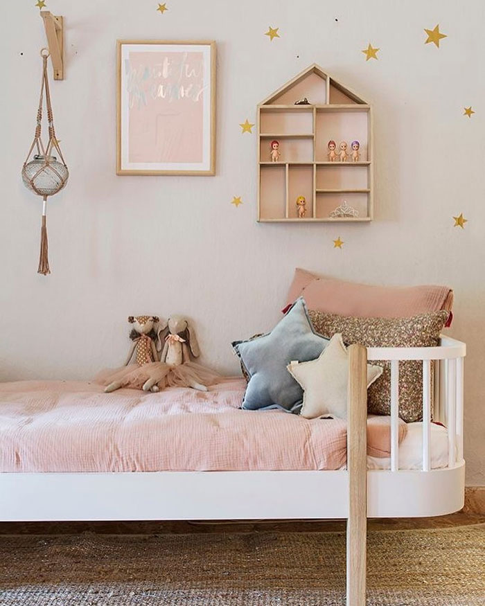 blush pink for girls' rooms