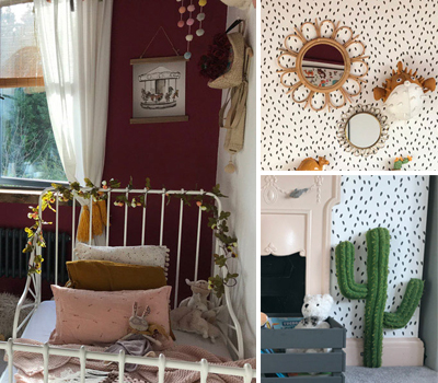 ROOMTOUR : FRANKIE'S ECLECTIC GIRL'S ROOM IN BURGUNDY AND MUSTARD TONES