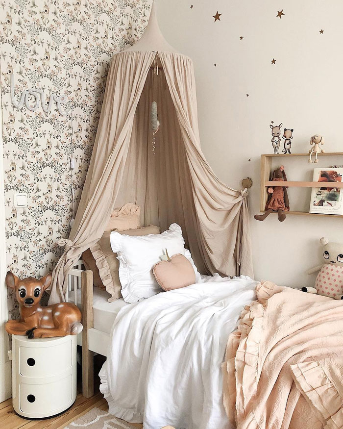 dusty vintage pink kids bedding