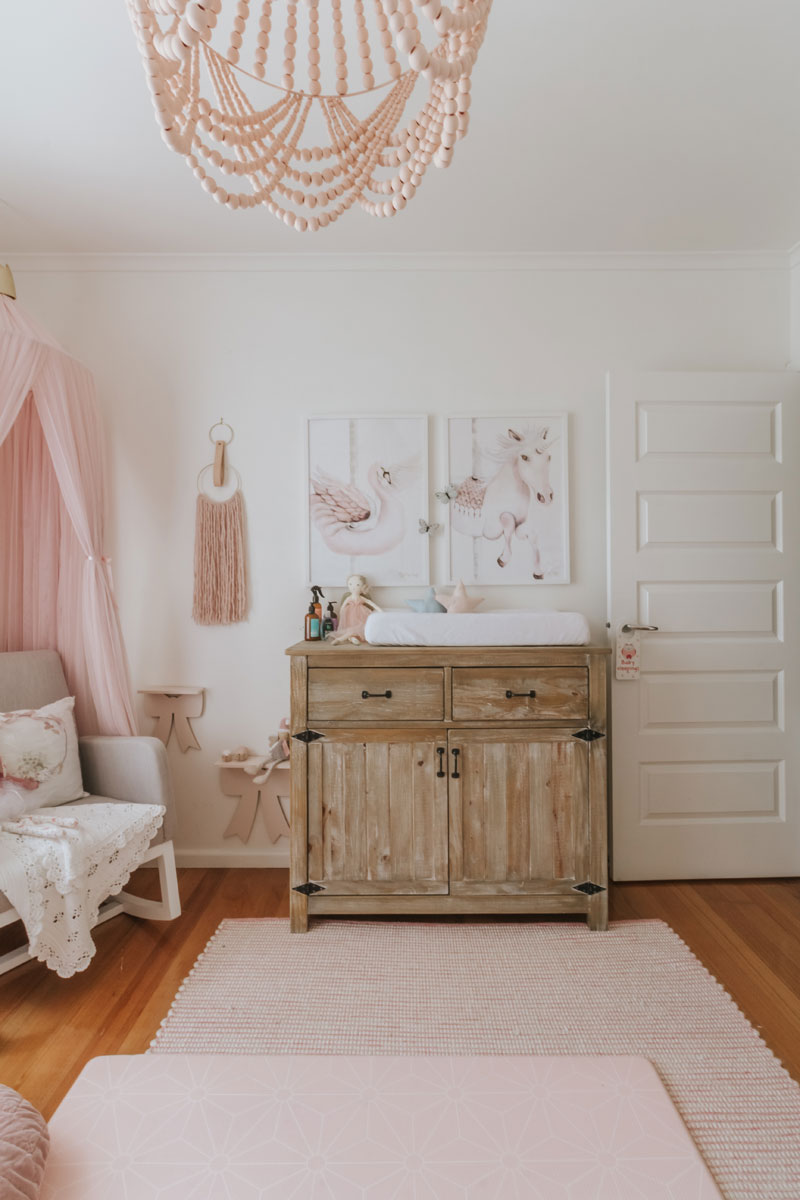 vintage shabby-chic changing table dresser