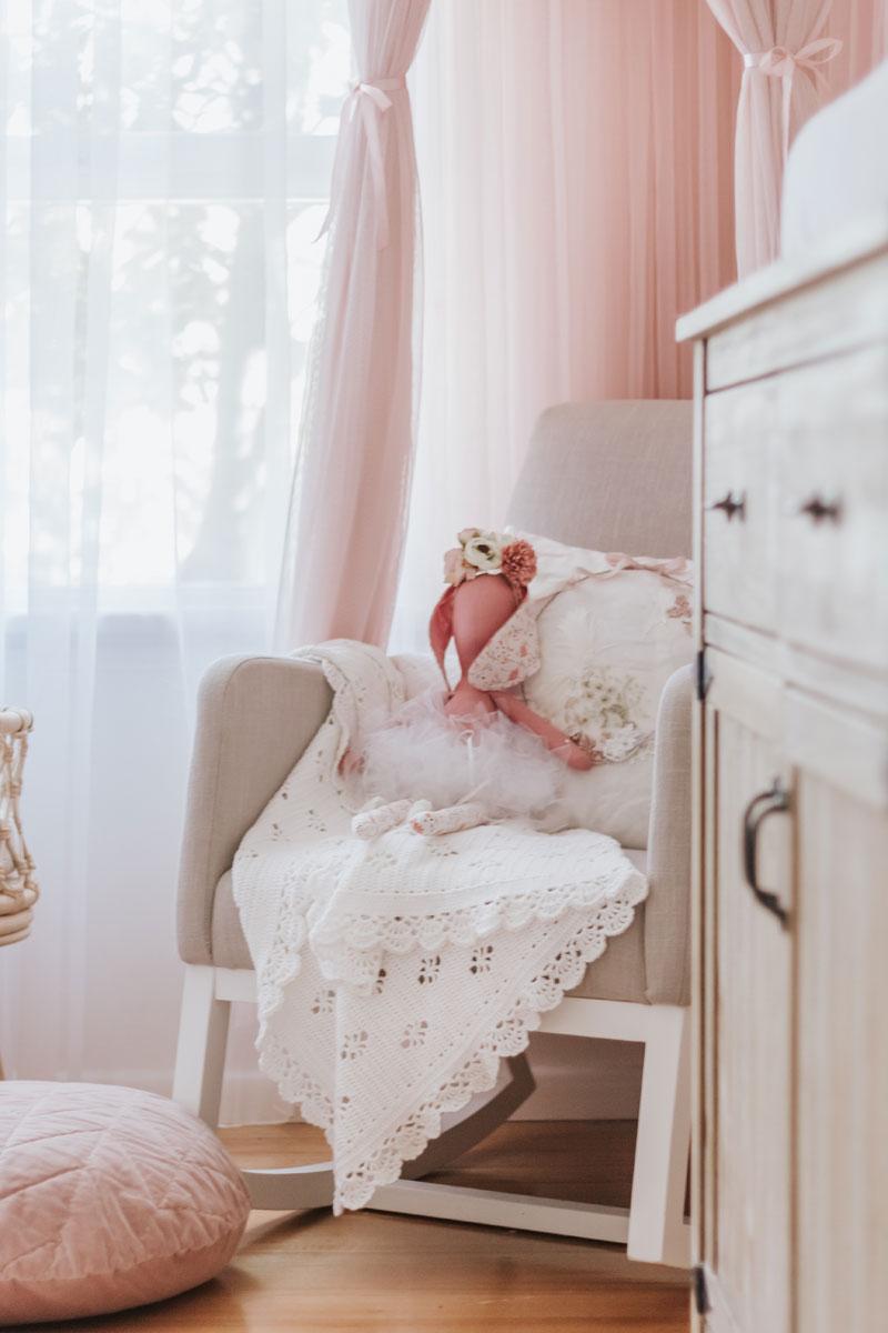 grey nursery rocking chair