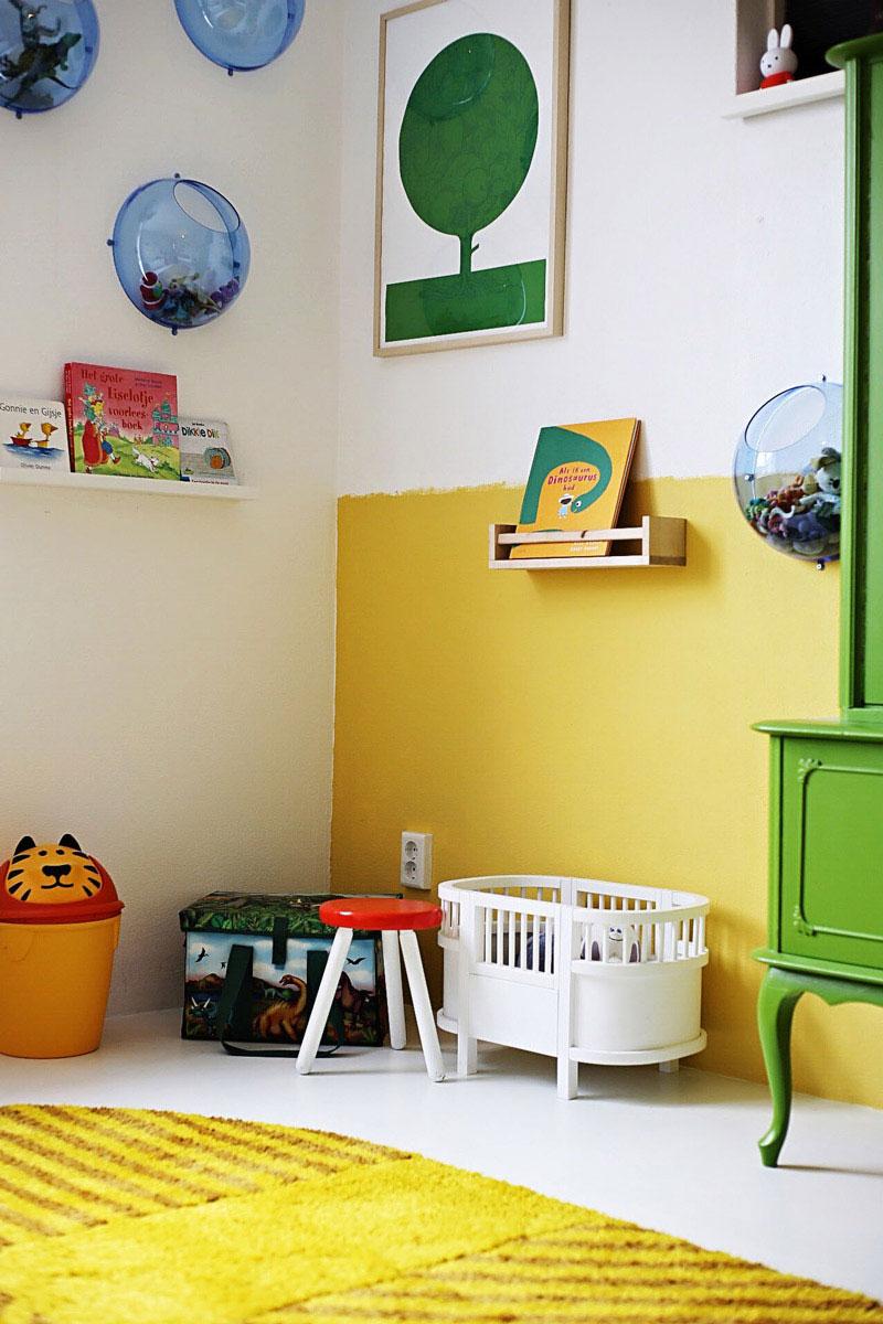 yellow green kid's room