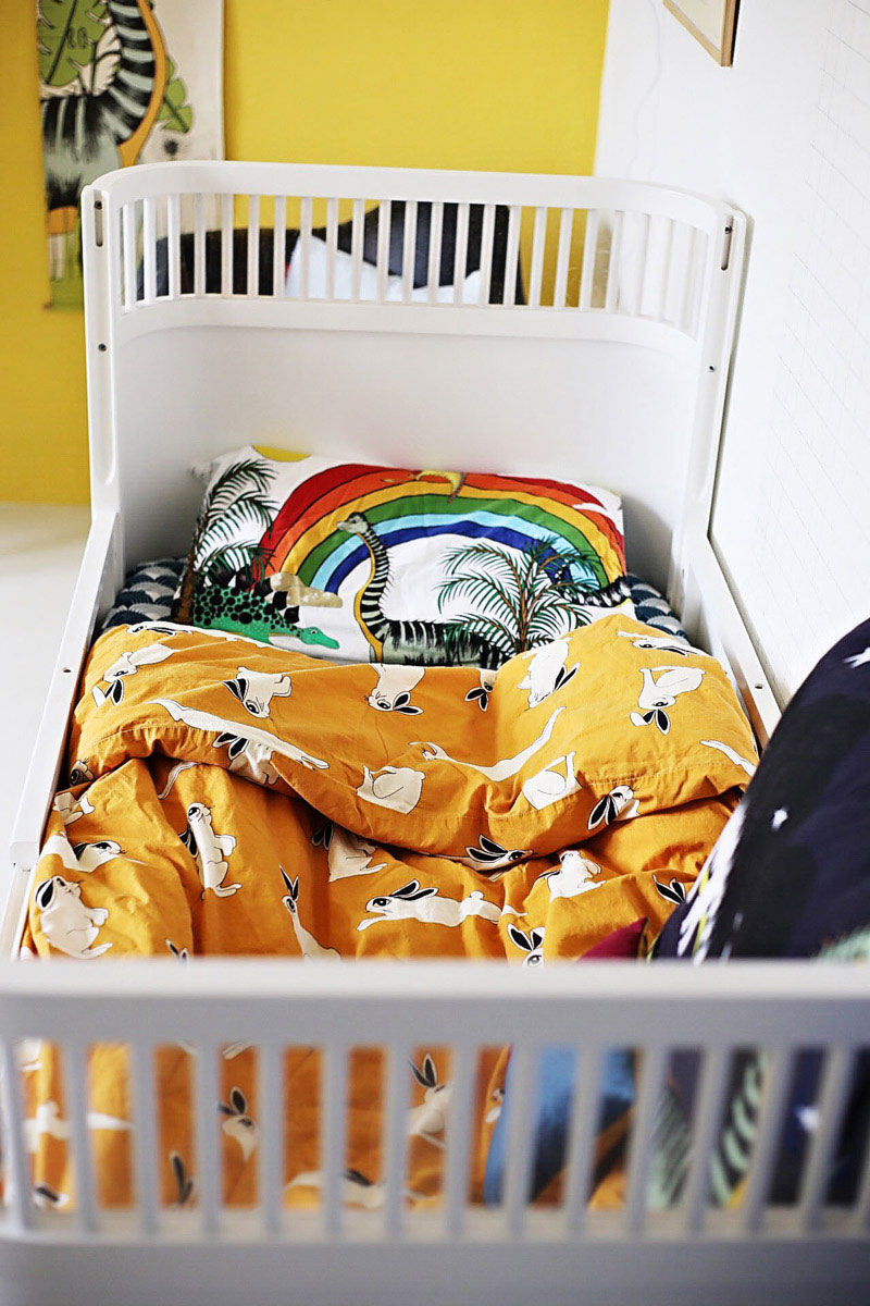 mini rodini mustard bedding