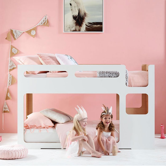millenial pink girls rooms