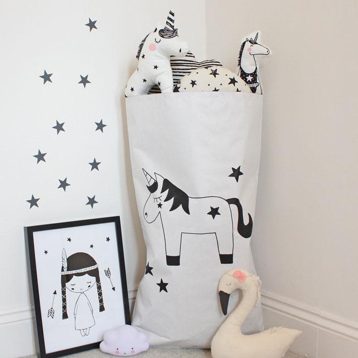 unicorn paper storage bag
